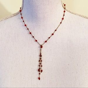 Jewelry - Delicate Red Vintage Style beaded necklace